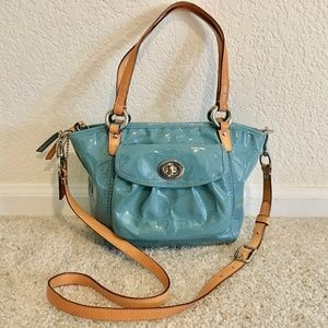 Coach patten leather purse